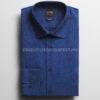 OLYMP Level Five kék body fit pöttyös vasaláskönnyített ing-2086-54-18-01